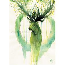 Весенний олень