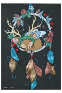 Оленёнок на ловце снов